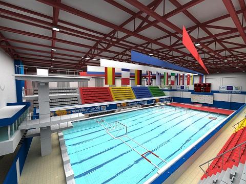 Chelyabinsk European Juniors women Stroitel Swimming Pool.jpg